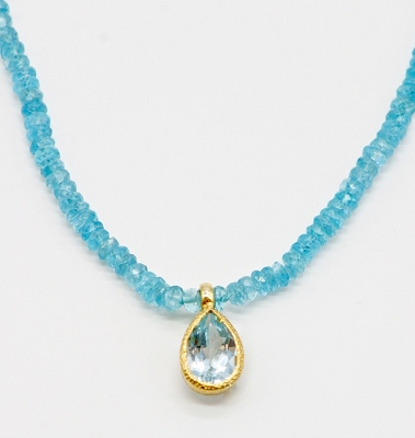 Apatite & Blue Topaz Necklace