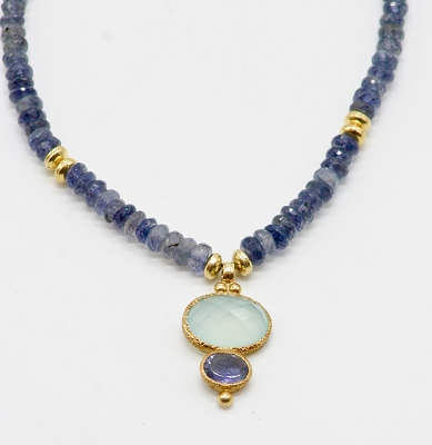 Iolite & Chalcedony Necklace