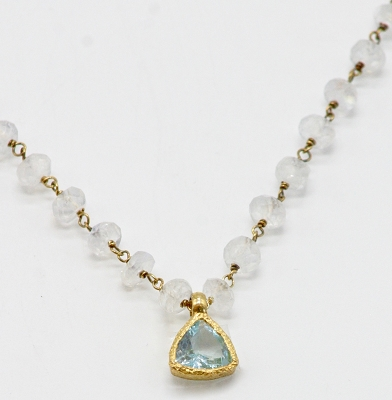 Moonstone & Blue Topaz Necklace