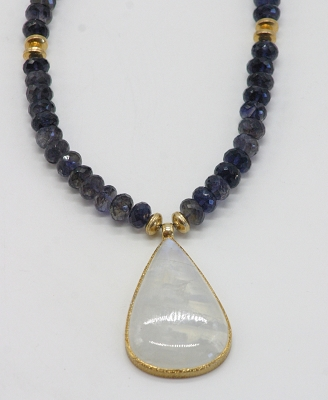 Moonstone & Iolite Necklace