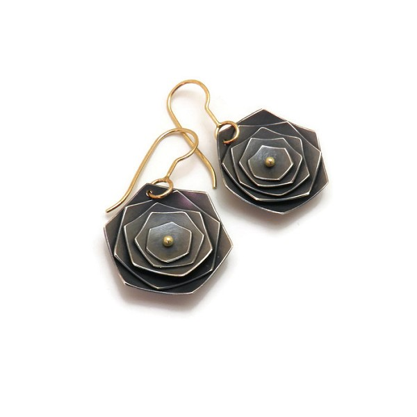 Flower Earrings, Dangle - L