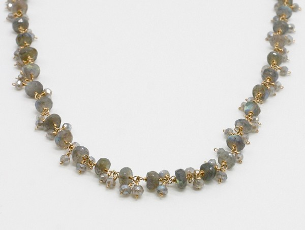 Labradorite Embellished Rosary Necklace